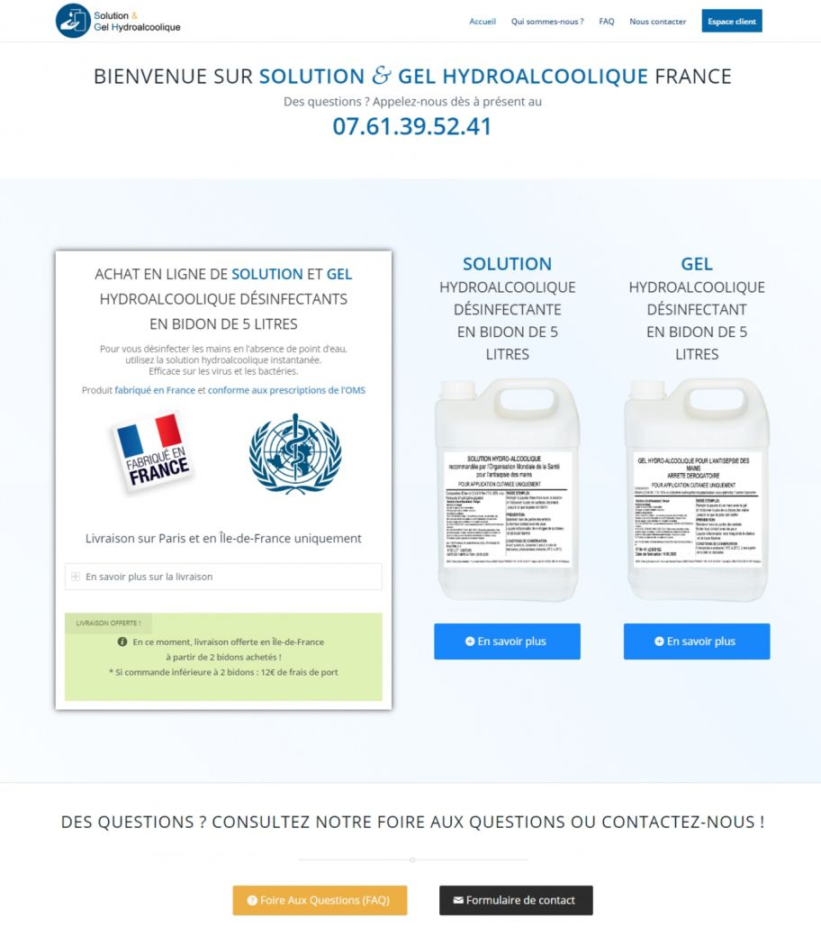 Solution & Gel Hydroalcoolique